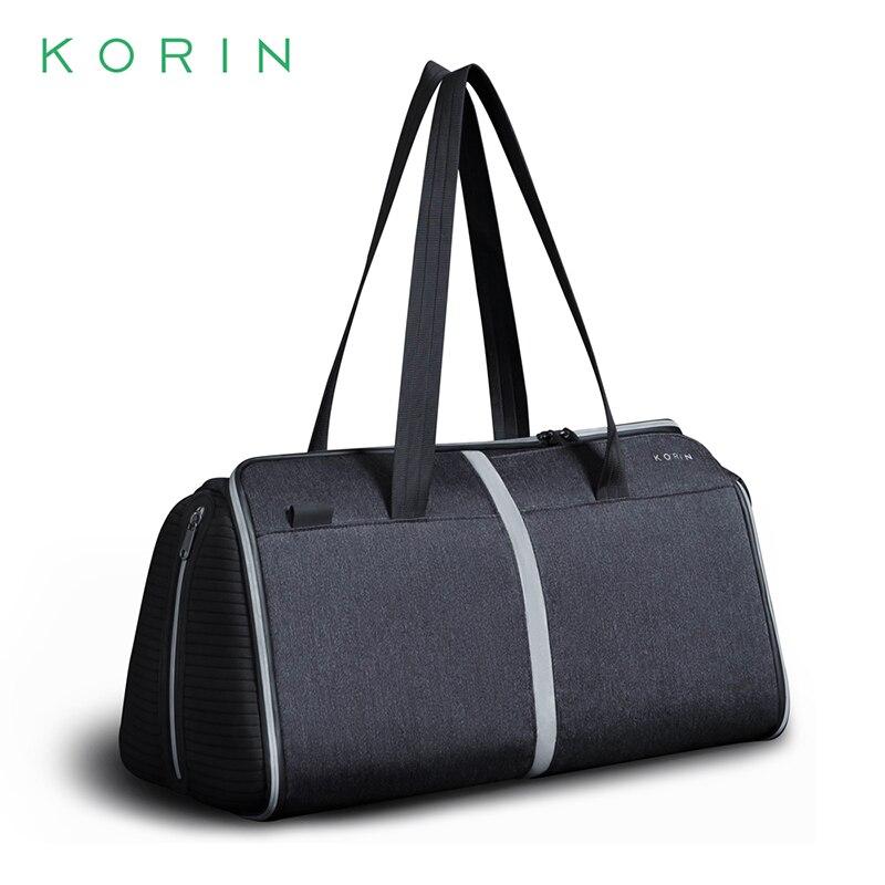 Korin FlexPack, Спортивная Противоугонная Складная спортивная сумка для мужчин и женщин, мужская дорожная сумка, водонепроницаемая сумка на плечо