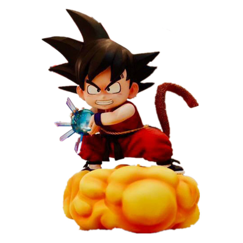 Dragon Ball Z Open Cirrus Childhood Goku Kamehameha 1/6 GK Resin Scenes Statue Action Figure Model For Kids Gift Toy X3562