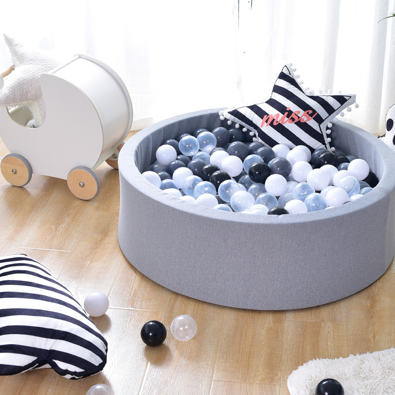 Baby Ocean Ball Playpenl Suede Poo Fence 5CM Thickness Sponge Filled Ocean Ball Pool Indoor And Outdoor Game Playpens