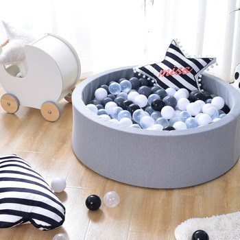 Baby Ocean Ball Playpenl Suede Poo Fence 5CM Thickness Sponge Filled Pool Indoor and Outdoor Game Playpens