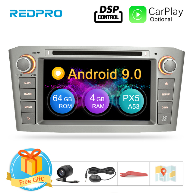 4G RAM 7 Android 9.0 Car DVD GPS Navigation Video Player For Toyota Avensis/T25 2003 2008 2 Din Car PC Head Stereo Multimedia