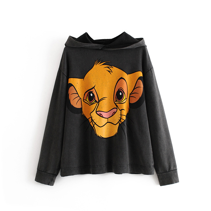 Hooded Sweatshirt Cotton Women Ladies Fashion Cartoon Elegant HS RR