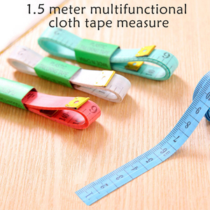60in/150cm Soft Sewing Ruler Mini Meter Sewing Measuring Tape Body Measuring Ruler Sewing Tailor Tape Measure Random Color