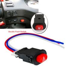 1pc przełącznik świateł awaryjnych motocykla podwójny sygnał ostrzegawczy migacz z 3 blokadą przewodów tanie tanio CN (pochodzenie) Motorcycle Switches plastic