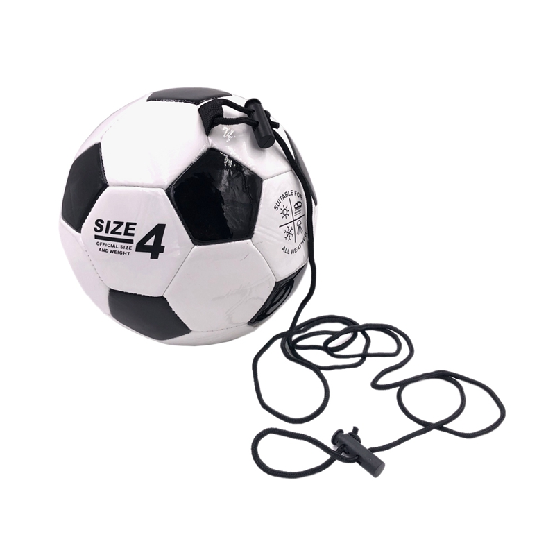 Soccer Training Ball Adjustable Bungee Elastic Training Ball With Rope Size 4 Football For Training Playing Sports