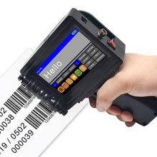 12 dil el taşınabilir yazıcı Mini mürekkep püskürtmeli etiket baskı makine dokunmatik ekranı akıllı USB QR kod mürekkep püskürtmeli etiket yazıcı