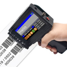12 języków ręczna przenośna drukarka Mini drukarka atramentowa drukarka etykiet ekran dotykowy inteligentna drukarka etykiet atramentowych USB QR Code
