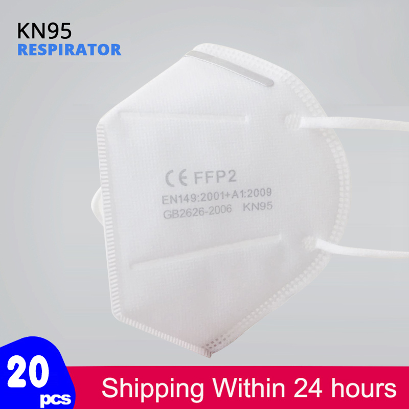 Fast Shiping KN95 Mask ffp2 Respirator 5-Layer Anti-fog Reusable Face Masks KN95 Dust Filter Protective Mouth mask Cover