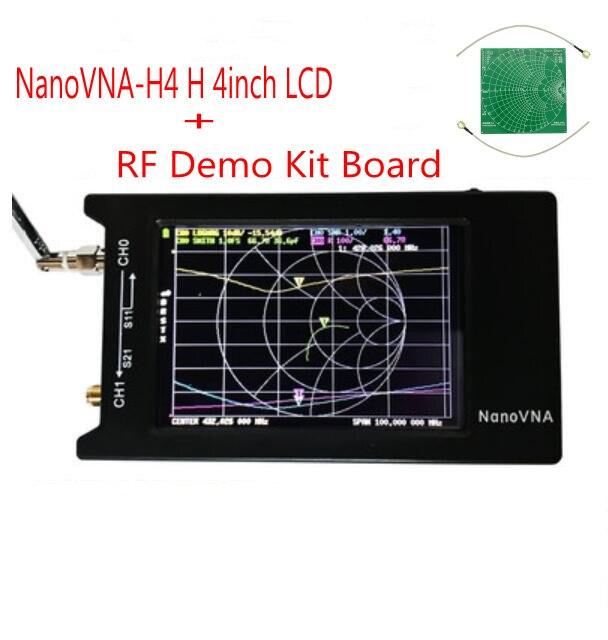 Analyseur de réseau vectoriel LCD/VNA NanoVNA-H4 H 4 pouces + batterie analyseur d'antenne UHF Hugen HF VHF d'origine + Kit de démonstration RF