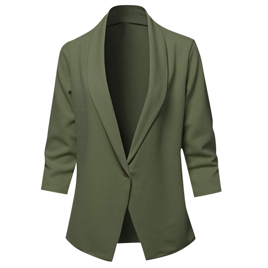 Female Blazer Women Autumn Warm Loose Top Long Sleeve Casual  Jacket Ladies Office Wear Coat Blouse Outwear Blazer Jackets #45