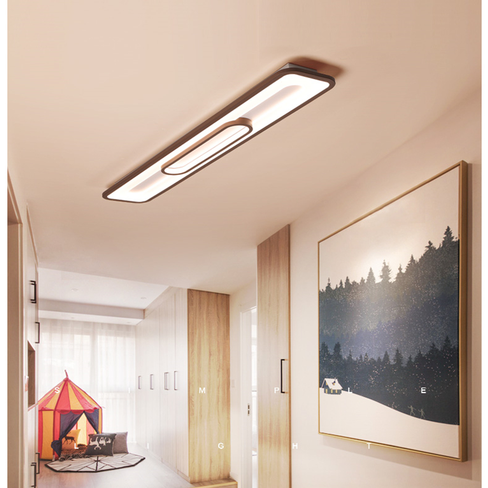 retangulo conduziu a luz de teto moderna 04