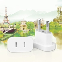 4MM US Jack to EU Plug Outlet Travel Charger Power Socket Adapter USA to Europe European Regulation Charging Converter Plug