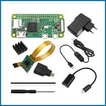 Raspberry pi zero/zero w starter kit 5mp câmera + rpi zero w abs caso + dissipador de calor adaptador de alimentação 5v2a kit adaptador mini hdmi