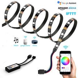 Tuya vie intelligente WIFI LED bande lumières rvb App contrôle Smart TV bande Alexa écho Google éclairage à la maison 5V