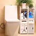 Модная деревянная Прочная полка для ванной комнаты, напольный шкаф для хранения вещей, туалетный сервант, полка для ванной комнаты, ящик для...