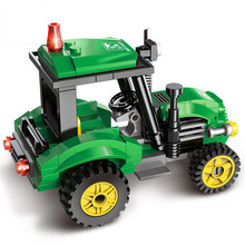 ENLIGHTEN 112pcs City Tractor Assembled Building Blocks Toys for Children Educational Blocks Bricks Sets Kids Boys Birthday Gift