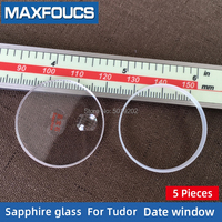 Flat Sapphire Date window Watch glass Fits For Tudor without the date Replacement watch accessories 5 Pieces Suit