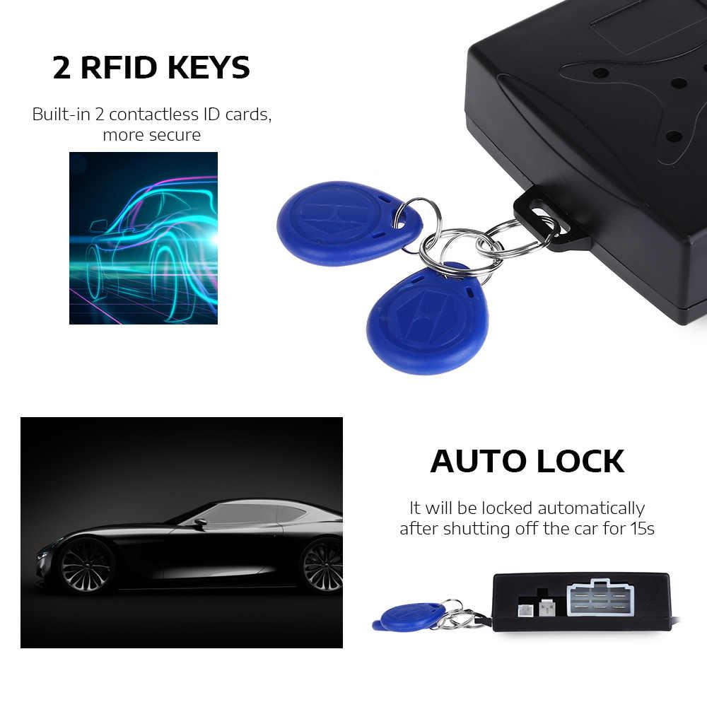 Alarme de carro automático botão de partida do motor de carro bloqueio rfid ignição starter keyless entrada parada de partida imobilizador anti-roubo sistema