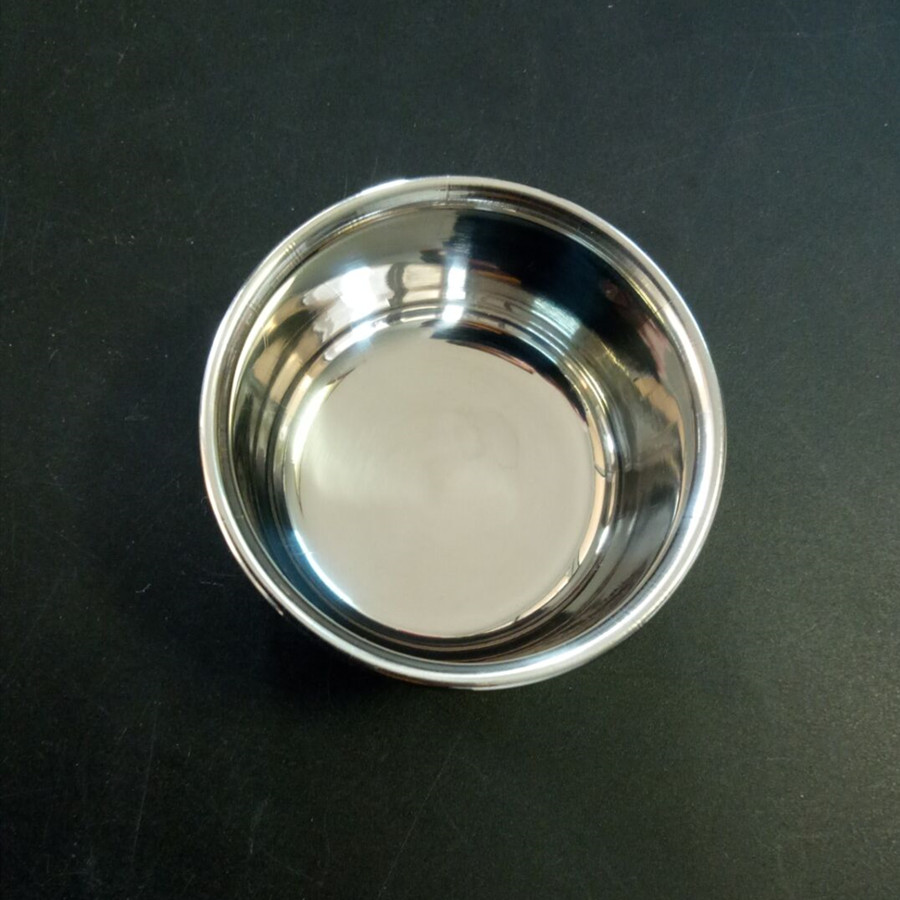2 Pieces Dental Surgical Implant Laboratory Mixing Bowl Cup 60X35mm Stainless Steel New