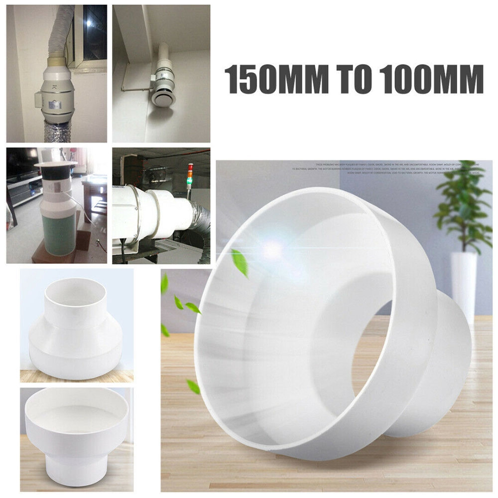 1PCS 150mm To 100mm Ventilation Pipe Pipeline Circular Vent Ducting Reducer Adaptor