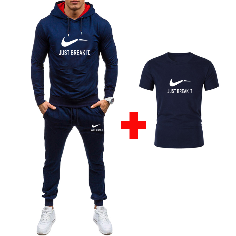 Brand Autumn Sporting Suit Men Suit Men Hoodies Sets Mens Gyms Sportswear Jogger Suit Male Tracksuit Sets 2019