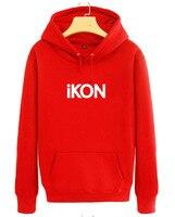 Ikon Related Products Hoodie Bobby Celebrity Style Hooded Fleece Hoodie Korean style Couples Hoodie