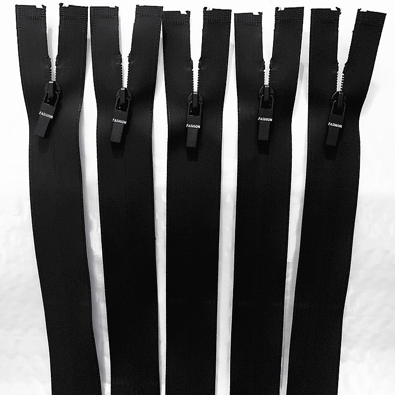 Черная Водонепроницаемая нейлоновая молния 3 # из ТПУ с открытым концом, 5 шт., 20-70 см, используется для рукоделия, шитья сумок, аксессуаров для...