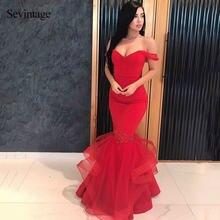 Женское вечернее платье Русалка sevintage длинное фатиновое
