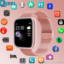 2021 nuevo reloj inteligente mujeres hombres Bluetooth impermeable reloj inteligente para Android IOS reloj electrónico Fitness Tracker completamente táctil horas