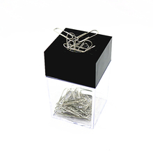 Square Paper Clip Case Paper Clip Recycling Cartridge Magnetic Black Paper Clip Holder Office Supplies Porta Clips Dispensador
