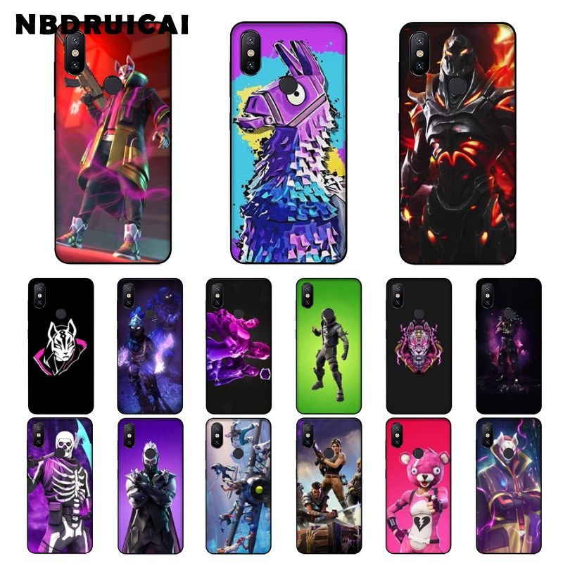 NBDRUICAI Hot game battle royale fire FN Silicone Phone Case for Xiaomi 8 9 se 5X Redmi 6pro 6A 4X 7 5plus note 5 7 6pro image