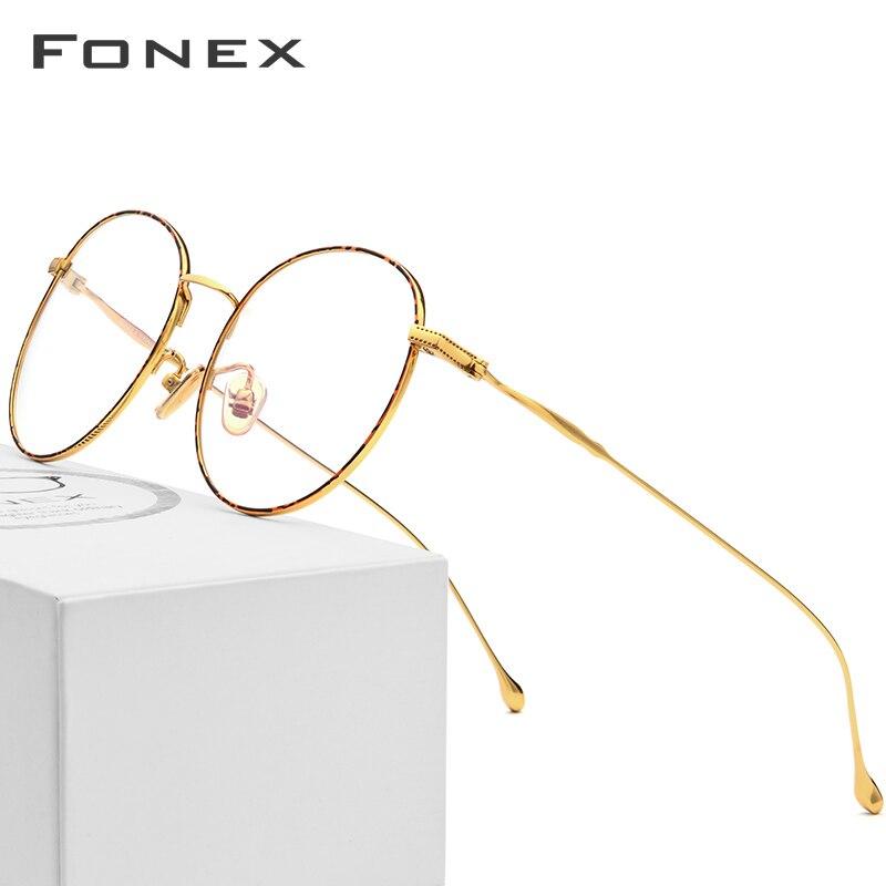 Pure B Titanium Glasses Frame Women 2018 Ultralight Prescription Eyeglasses Men Round Spectacles Myopia Optical Frames Eyewear