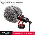 BOYA BY-MM1 микрофон кардиоидный дробовик для iPhone Android смартфон Canon Nikon Sony DSLR камера потребительская видеокамера PC Mic