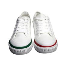 Womens canvas shoes are popular with color-matching soles