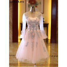 Женское платье с блестками элегантное розовое трапециевидной