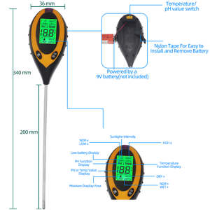 Image 2 - 5 in 1 PH Soil Tester Water Moisture Meter Humidity Thermometer Photometer Water Meter Garden Plants Hydroponics Analyze 40%off