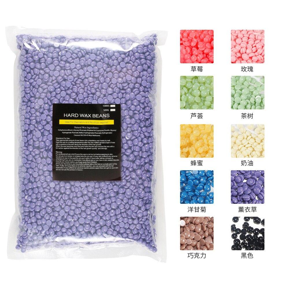 1000g/Pack Wax beans Depilatory Hot Film Pellet Removing Bikini Face Hair Legs Arm Hair Removal Bean Unisex hair removal