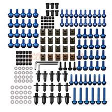 186 PCS Motorcycle Accessories Aluminum Fairing Bolt Screws Kit Fit For YAMAHA YZF 600 1000 R1 R6 R3 R15 R25 T-MAX 530 TMAX 500