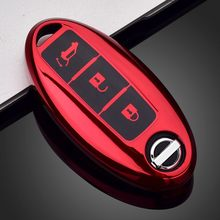 TPU Car Remote Key Case For Nissan Tidda Livida X-Trail T31 T32 Qashqai J10 J11 March Juke Pathfinder Note GTR Key Cover Holder