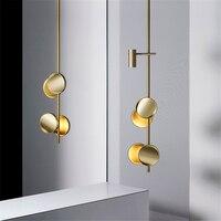 Modern sanat kolye lambaları güzellik salonu aydınlatma lüks şerit LED kolye işıkları yatak odası oturma odası asılı lamba mutfak armatürleri|Kolye ışıkları|Işıklar ve Aydınlatma -