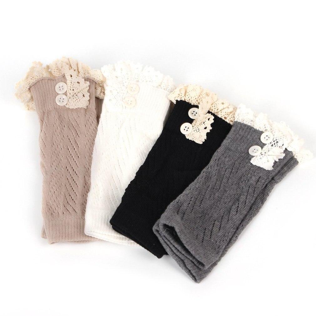 В европейском и американском стиле; модная удобная детская одежда для маленьких девочек вязаные крючком ботинки на шнуровке Теплые гетры; нарукавники гетры для малышей
