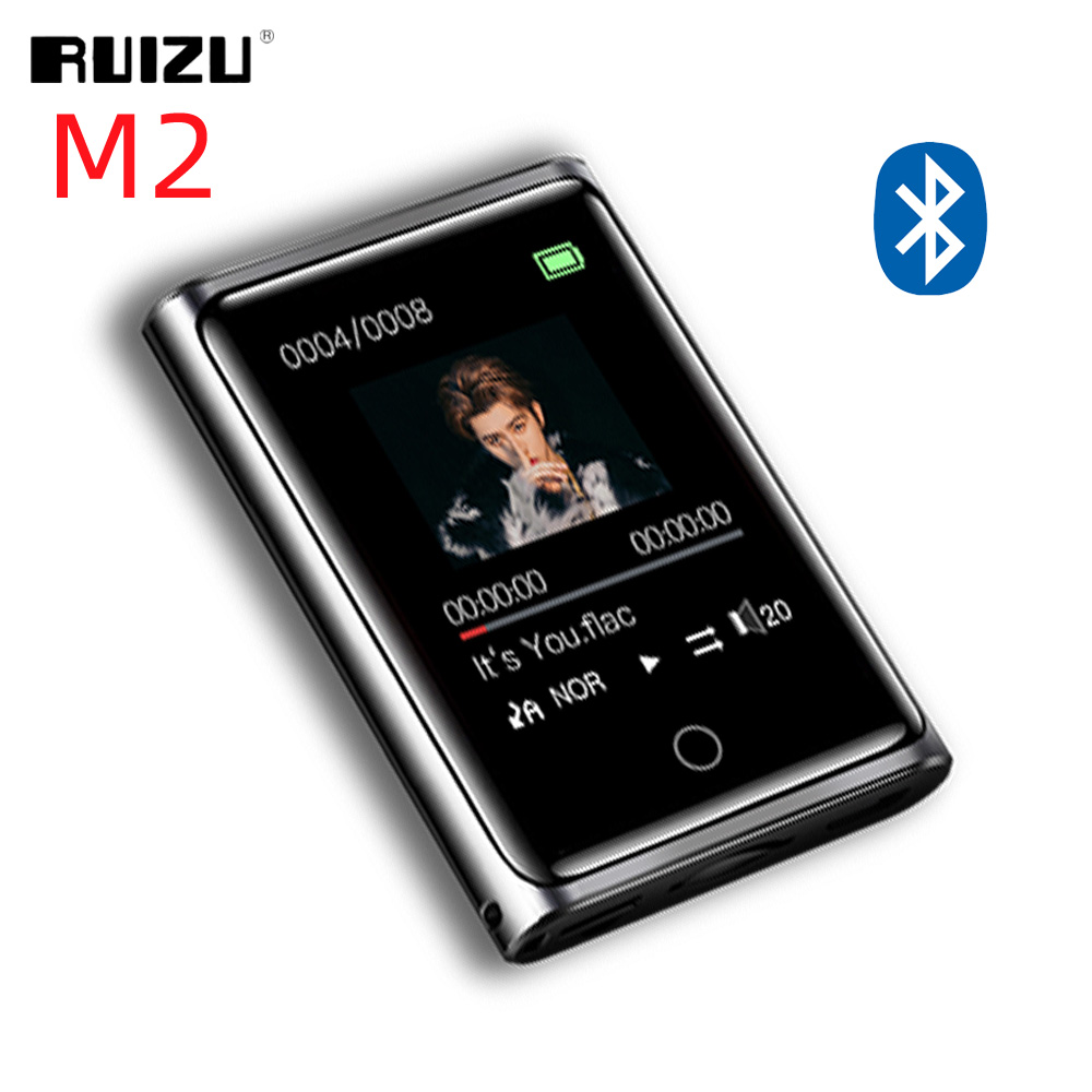 RUIZU M2 Bluetooth MP3 Player Full Touch Screen 8GB 16GB Portable Audio Music Player With FM Radio Recording E-book Video Player