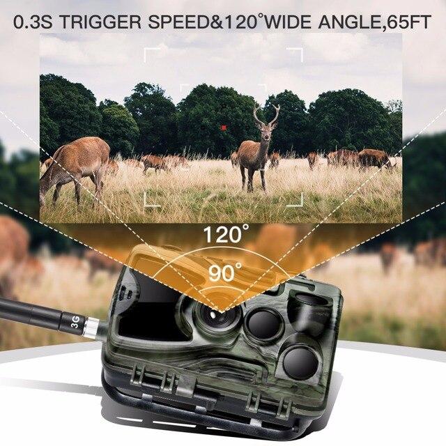 3G MMS Trail camera 0.3s Trigger Hunting camera 940nm IR LED photo traps 16mp 1080p HD night vision scout animal camera HC-801G 4