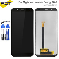 5.7''Black For myPhone Hammer Energy 18x9 LCD Display+Touch Screen Assembly 100% Tested Digitizer Glass Panel Replacement+Tools