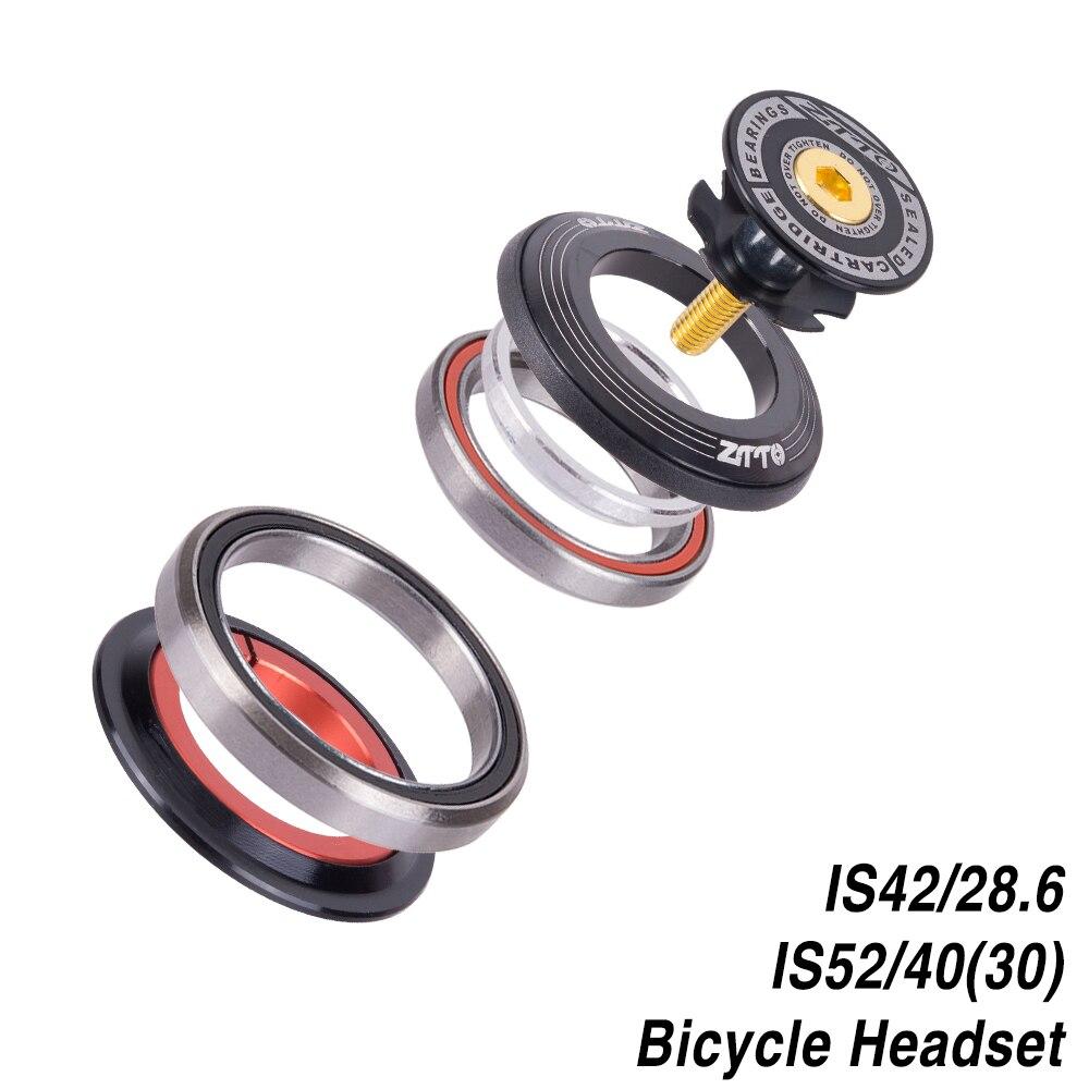 """Bicicleta fone de ouvido 42mm 52mm cnc 1 1/8 """"-1 1/2"""" mtb que carrega em linha reta e cônico tubo garfo is42 is52 steer coluna sistema integrado"""
