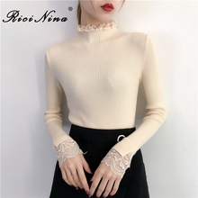 RICININA Sweater Women Plus Size Turtleneck Full Sleeve Fall Sweaters For Cashmere Ladies Casual Knit Pullover