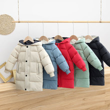 Outerwear Padded-Jacket Snow-Coats Hooded Girls Boys Kids Winter Children HYLKIDHUOSE