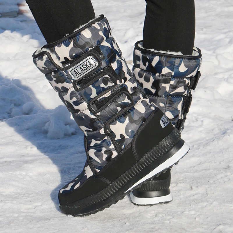 Erkek Botları Süper Sıcak Kar Botları Chaussure Homme 2019 Rahat Su Geçirmez Severler Kış Ayakkabı Erkekler Artı Boyutu 47 Çalışma Kış ayakkabı