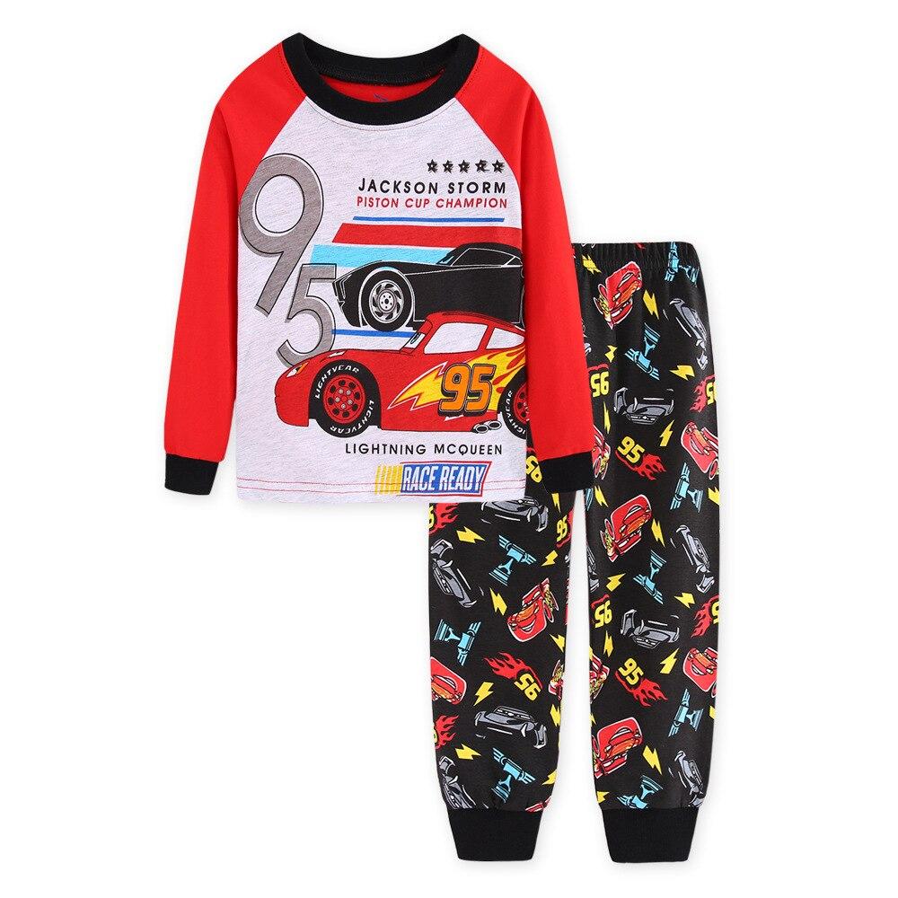 Baby Kid Baby Boy Lightning McQueen Pajamas Set Cartoon Cosplay Sleepwear Outfit
