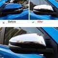 Tonlinker Обложка наклейки для TOYOTA RAV4 2014-18 автомобильный Стайлинг 2 шт абс хром зеркало заднего вида крышка чехол наклейки